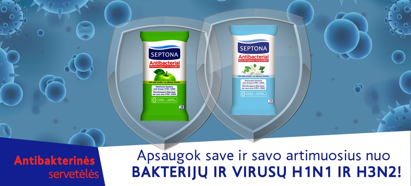 Antibakterinės servetėlės